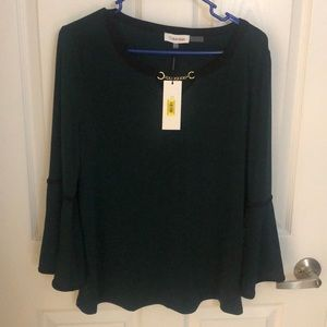 Green Calvin Klein Top with tags